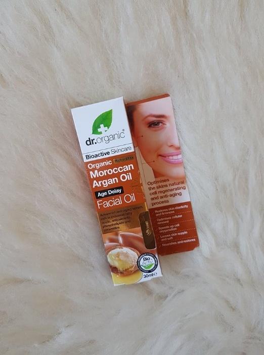 Olejek do twarzy Dr Organic Maroccan Argan