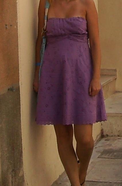 Sukienka letnia bez ramiączek Amisu 38 M haft...