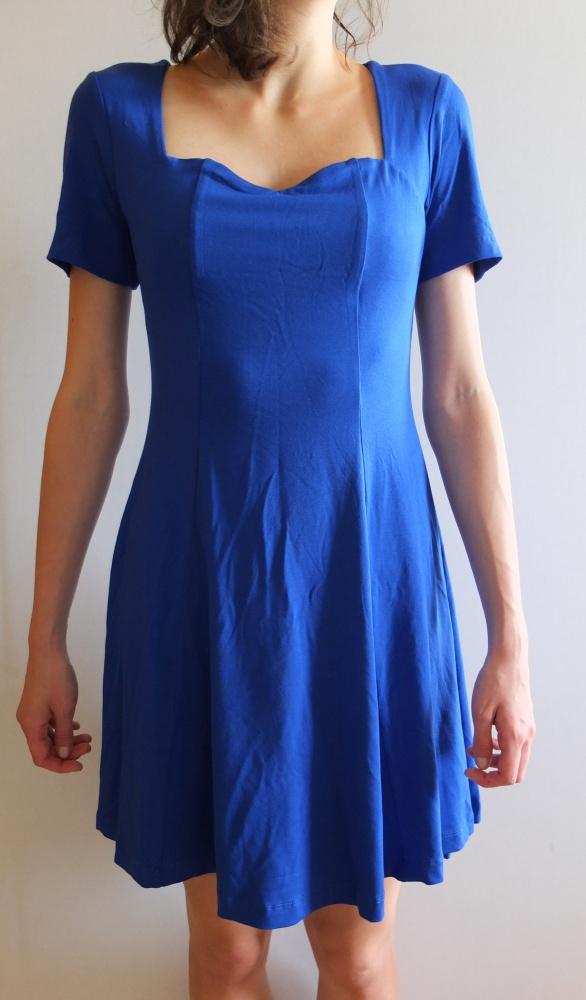 Suknie i sukienki Nowa Sukienka szafirowa chabrowa kobaltowa L 40