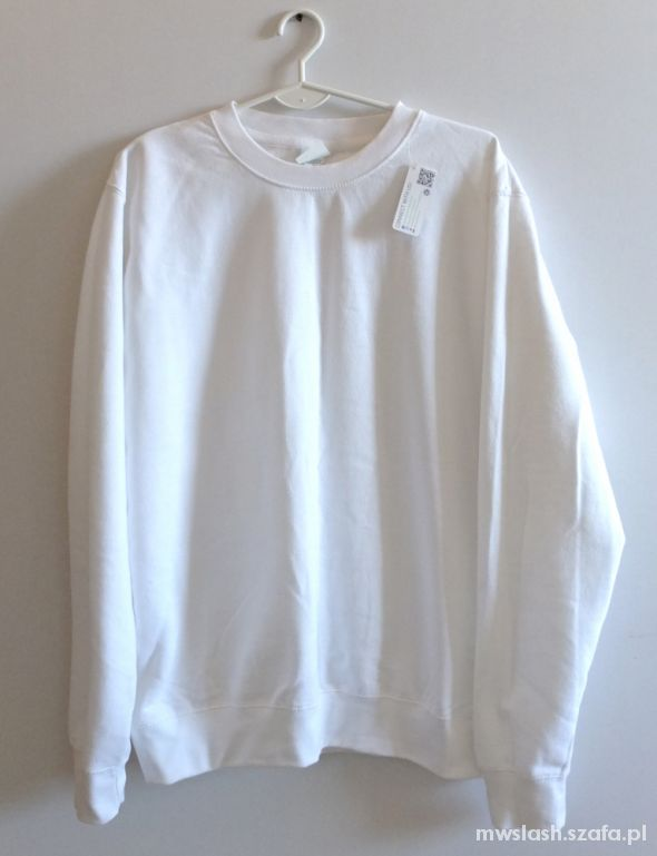 Biała bluza oversize M L 38 40