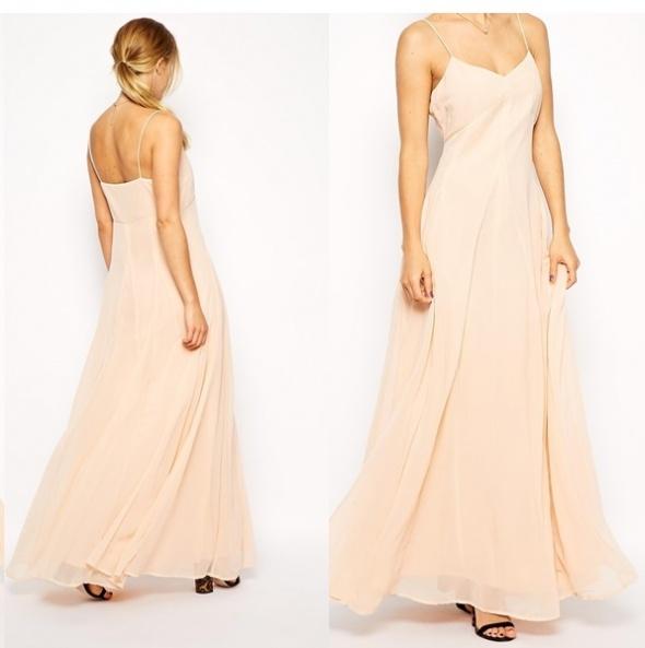 cf4539540a ASOS długa maxi szyfonowa sukienka XL XXL NEW w Suknie i sukienki ...