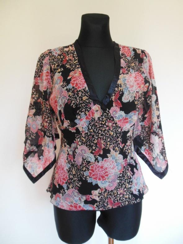 Select bluzka floral nietoperz w kwiaty...