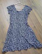 Granatowa sukienka dziewczęca atmosphere w drobne kwiaty rozm 3...