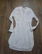 Biała tunika koszula sukienka bawełna rozm XL styl boho