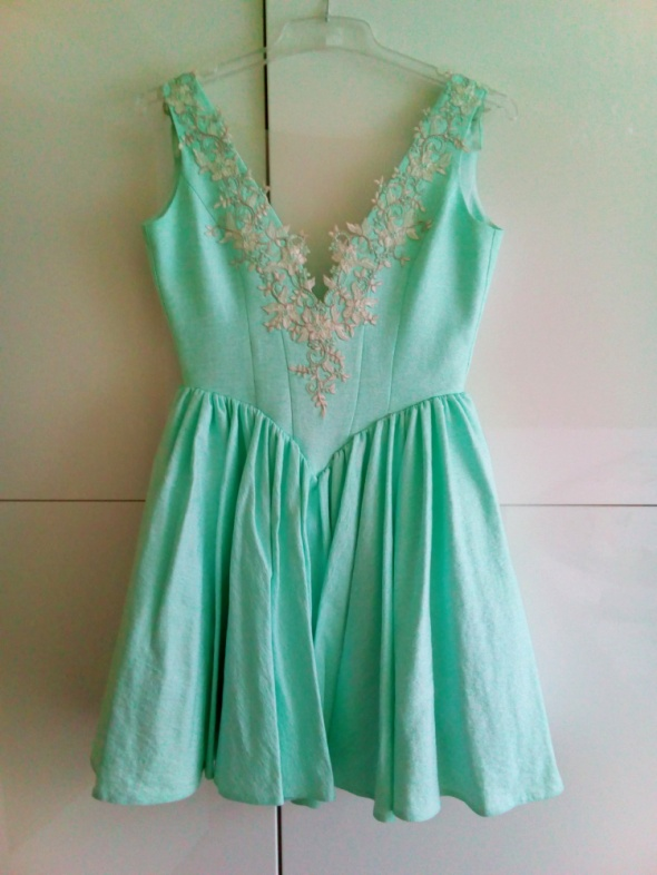 Sukienka lou miętowa cassandra xs