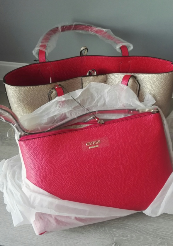 GUESS Nowa dwustronna shopper bag