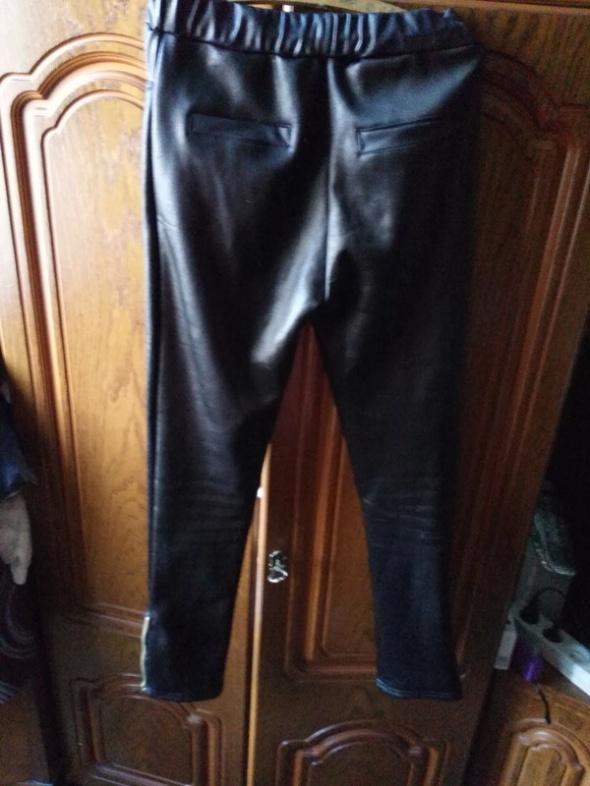 legginsy skorzane z zipami L