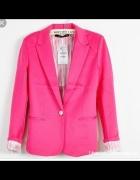 Piękny żakiet Zara różowy