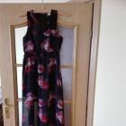 Zjawiskowa długa szyfonowa sukienka w kwiaty Rozmiar 34
