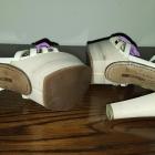 Markowe sandały na obcasie i platformie