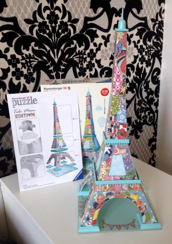 RAVENSBURGER Wieża Eiffla Tula Moon puzzle 3D 216 elementów jak NOWE