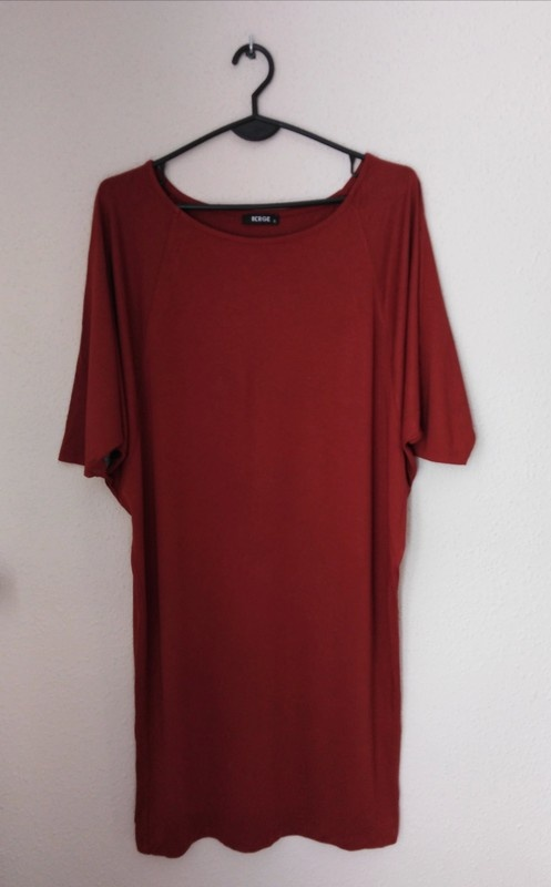 Sukienka Berge 36 kolor ceglasty na jesień nietoperz oversize...