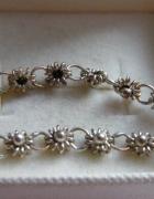 Łańcuszek srebro 875 kwiatuszki
