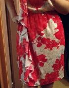 Nowa sukienka XS letnia Pretty Girl biała czerwona...