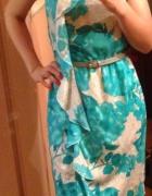 Nowa sukienka XS letnia Pretty Girl biała miętowa...