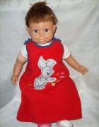 Disney czerwona sukienka z polaru roz 9 12 msc...