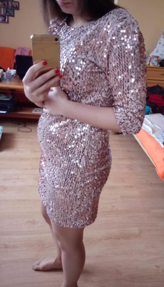 Sukienka różowa cekiny