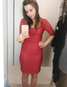 Bordowa sukienka L...