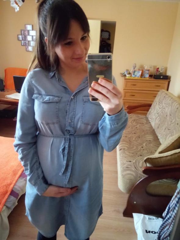 Sukienka ciazowa jeansowa