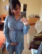 Sukienka ciazowa jeansowa...