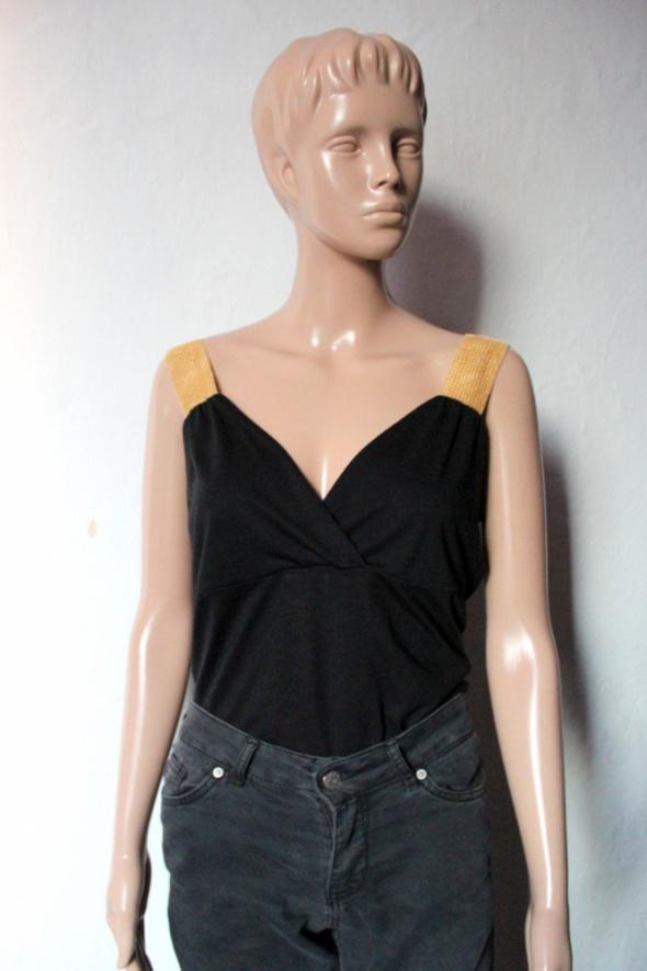 Czarna bluzeczka na ramiączkach r L...