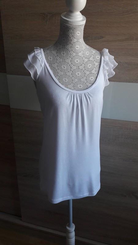Biała bluzka z falbankami 38 Amisu...