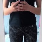 Spodnie z kieszeniami wysoki stan z gumką eleganckie