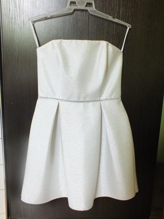 srebrna sukienka suwak z metkami