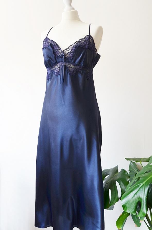 atłasowa sukienka maxi M L
