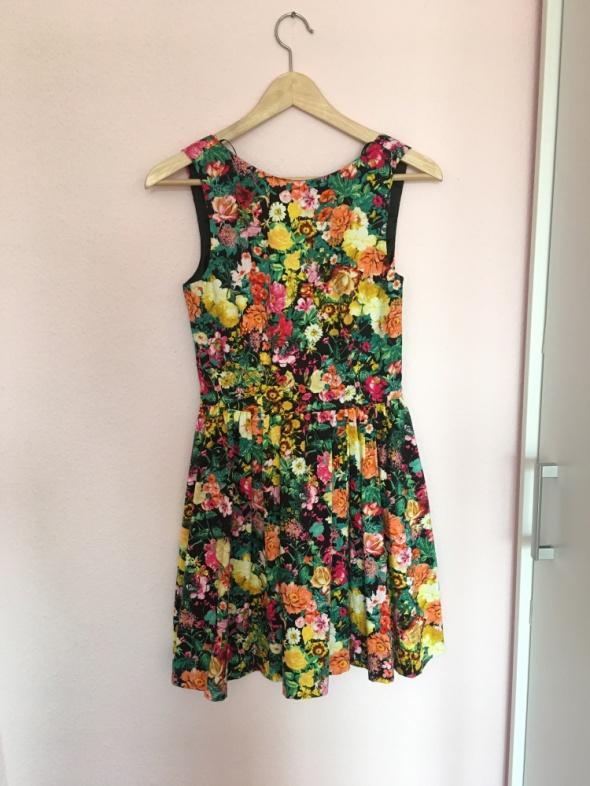 ec007a9c2d ZARA sukienka floral rozkloszowana 34 xs kwiaty w Suknie i sukienki ...