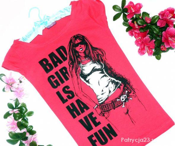 GC super różowa bluzeczka BAD GIRL