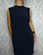 Nowa elegancka granatowa sukienka Warehouse...