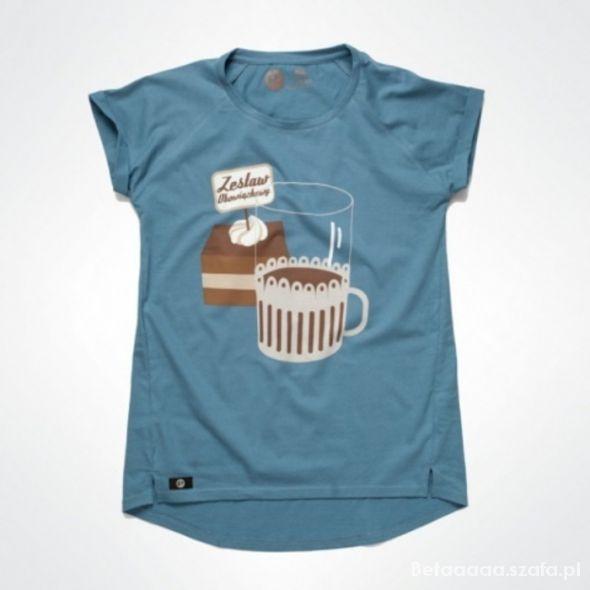 PEWEX koszulka t shirt niebieski XS S 34 36 WZ