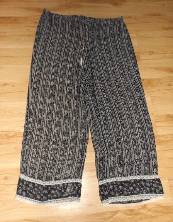 Cienkie długie spodnie piżamowe XL