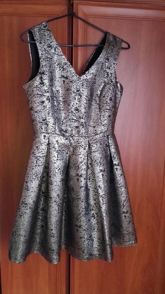 Sukienka Reserved metaliczna srebrna r36...