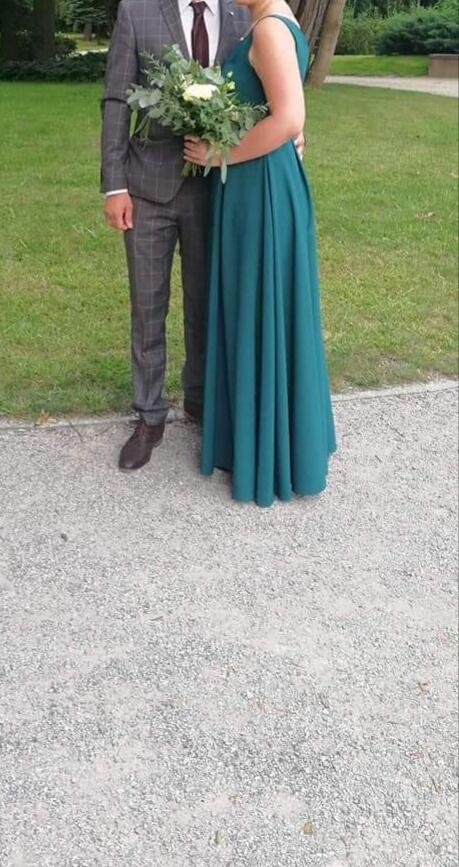 Suknie i sukienki Sukienka klasyczna butelkowa zieleń