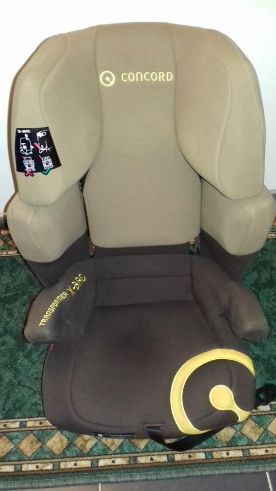 Fotelik samochodowy Concord Transformer X Bag od 15 do 36 kg brąz