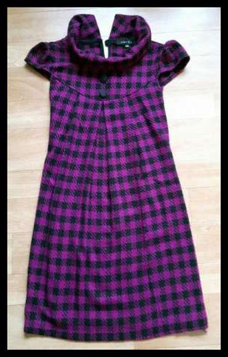 Sukienka Amisu rozmiar 36 S krata na jesień...