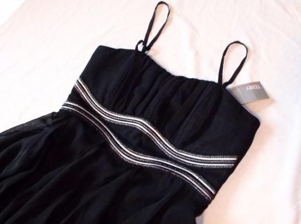 7c8ff1cd53 Suknie i sukienki Nowa Sukienka na wesele komunię itd TERRY koktajlowa  zwiewna S M z metką cekiny