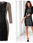 Sukienka z koronkową aplikacją