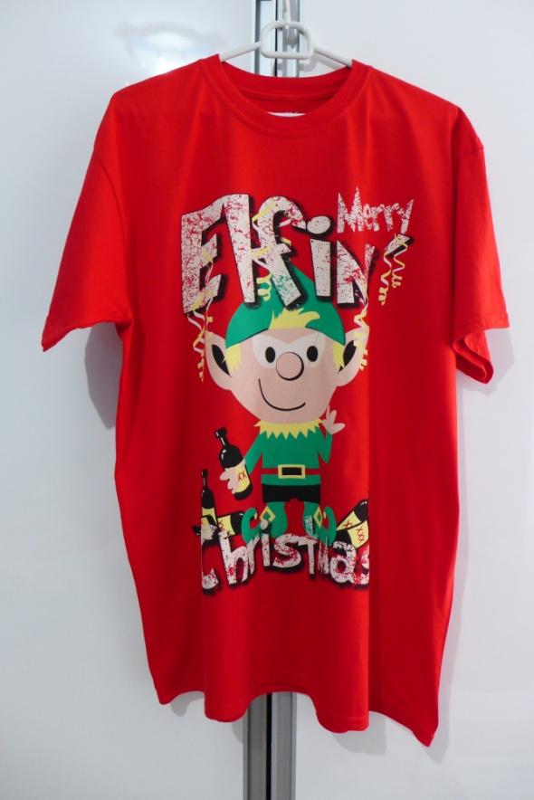 Świąteczny Męski tshirt rozm XL marki Easy