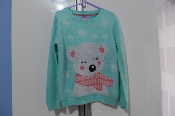 Śliczny świąteczny sweterek FiF rozm 122