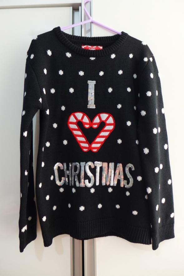 Śliczny świąteczny sweterek Young Dimension rozm 134...