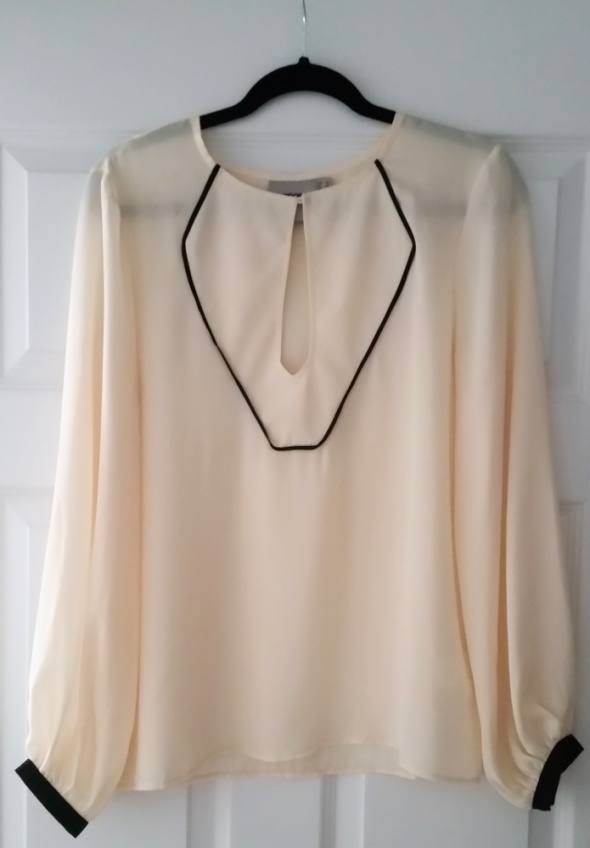 ASOS kremowa bluzka z łezką na dekolcie retro boho...