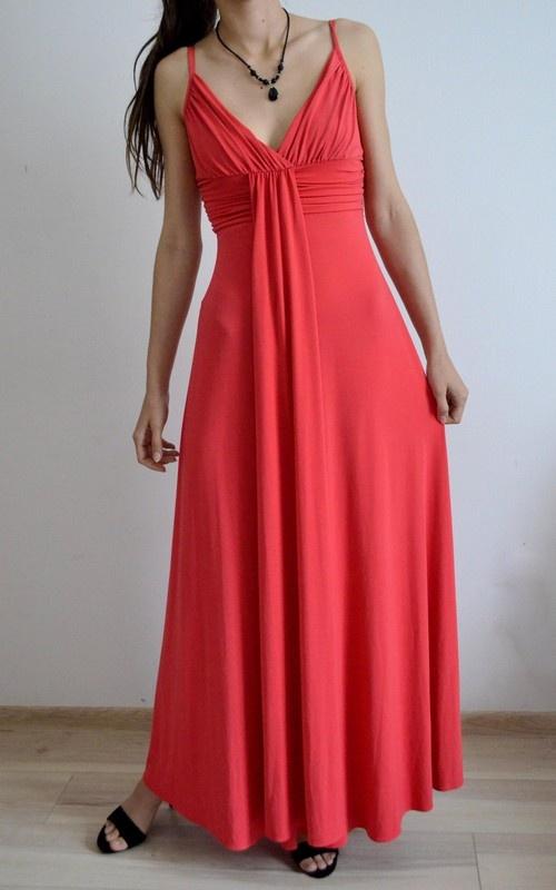 czerwona sukienka bal studniówka XS S M 34 36 C&A...