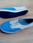 Trampki tenisówki VANS niebieski kremowy r 37...