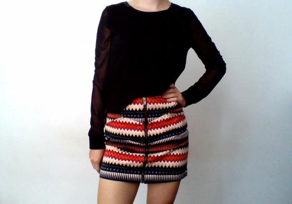 Spódnice Spódnica spódniczka azteckie wzory zamek zip mini h&m 36