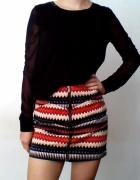 Spódnica spódniczka azteckie wzory zamek zip mini h&m 36...