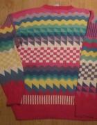 Sweter Norweski M Etno Folk Ethnic Bawełna...