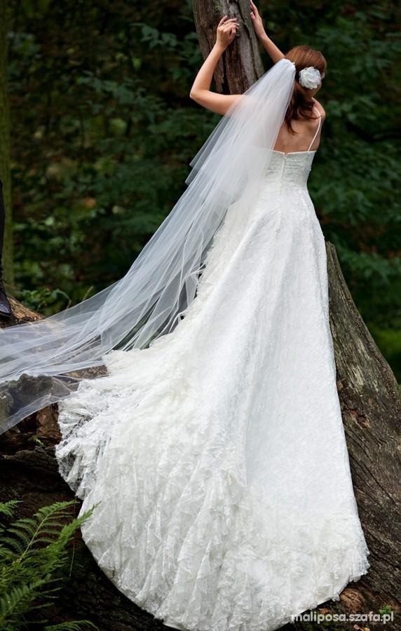 Suknia ślubna Madonna hiszpanka koronkowa 36 38...